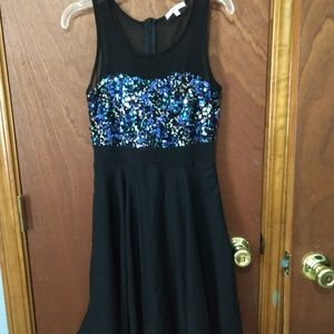 Sequined bodice dress